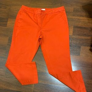 Size 14 orange straight leg ankle pants